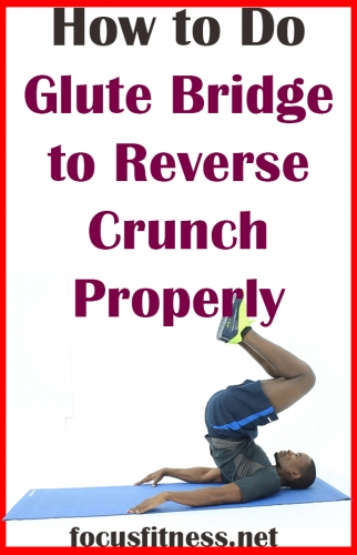 If you want to build extraordinary core strength, this article will show you how to perform glute reverse crunch exercise properly #glute #bridge #reverse #crunch #focusfitness