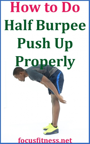 If you want to get in the best shape of your life without the gym, this exercise will show you how to perform half-burpee push-up exercise properly #half #burpee #pushup #focusfitness