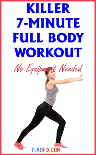 Use this killer 7-minute full body workout to transform your body for good #full #Body #workout #flabfix