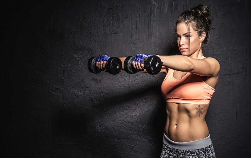 Standing HIIT Dumbbell Workout