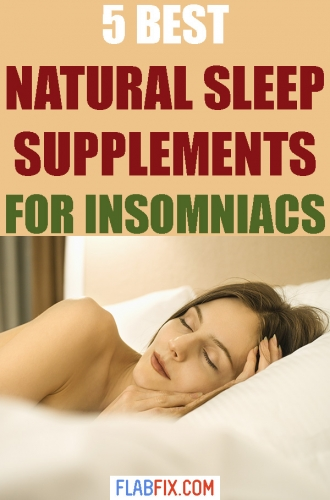 If you struggle with insomnia, read this article to discover the best natural supplements for insomniacs #natural #supplements #flabfix