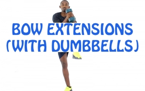 How to do Bow Extensions (with Dumbbells)