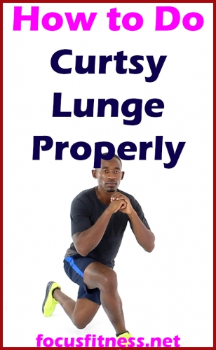 If you want to build your leg and butt muscles, this article will show you how to perform the curtsy lunge exercise properly #curtsy #lunge #exercise #focusfitness