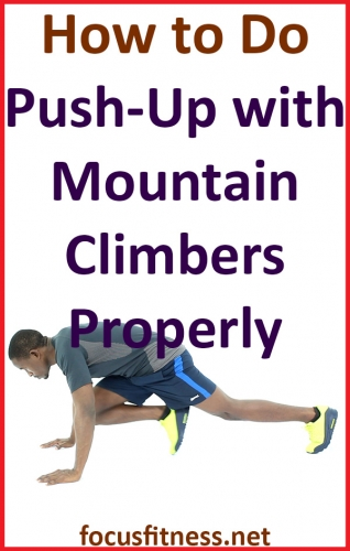 How to do Push Up with Mountain Climbers