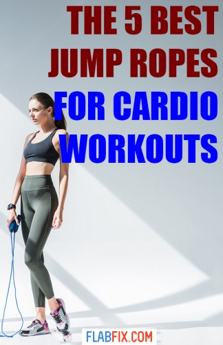 Read this article to discover the 5 best jump ropes for cardio workouts #cardio #workouts #flabfix