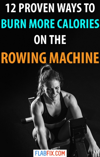 Read this article to discover simple tricks you can use to burn more calories on the rowing machine #rowing #machine #burn #calories #flabfix