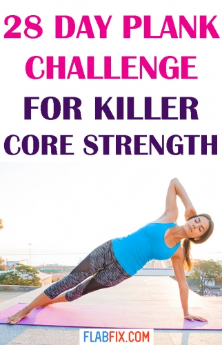 Take on this 28 day plank challenge to build killer core strength at home #plank #challenge #core #strength #flabfix