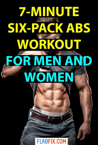 Use this simple abs workout to build six pack abs whether you're a man or woman #six #pack #abs #workout #flabfix