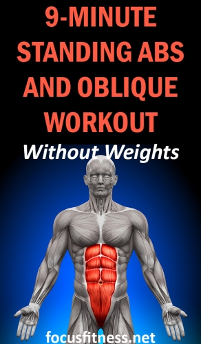 If you want to activate your abs without lying on the floor, this article will show you the best standing abs and oblique workout you can do at home #standing #abs #oblique #workout #focusfitness