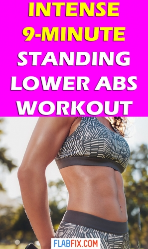 In this article, you will discover the best standing lower abs workout you can do at home #standing #lower #abs #workout #flabfix