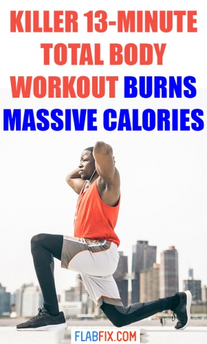 Use this killer 13 minute total body workout to burn massive calories #total #Body #workout #flabfix