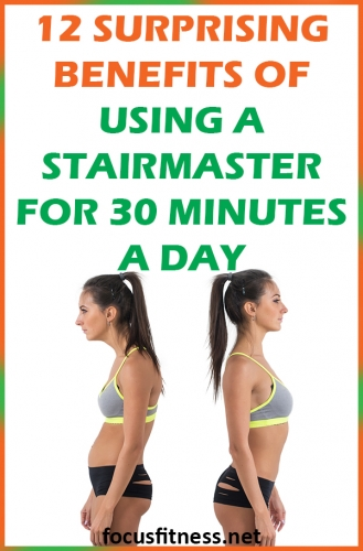 If you want to get lean and strong with lifting heavy weights, this article will show you the benefits of using a stair master 30 minutes a day. #stairmaster #benefits #focusfitness