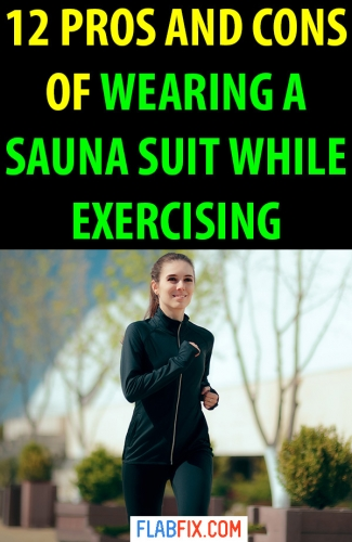 Read this article to discover whether you should wear a sauna suit while exercising or not #sauna #suit #exercising #flabfix