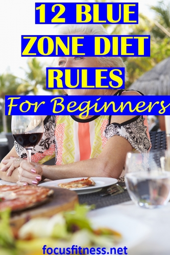 In this article, you will discover the blue zone diet rules that can help you lose weight and maintain good health without deprivation. #blue #zone #diet #focusfitness