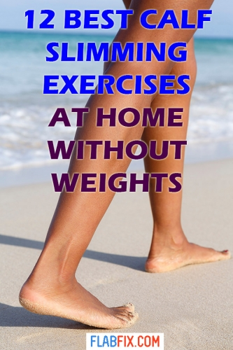 In this article, you will discover the best calf slimming exercises at home without weights #calf #slimming #exercises #flabfix