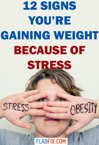 This article will show you signs you're gaining weight because of stress #stress #weight #gain #flabfix