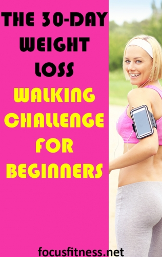 If you want to slim down, take on this weight loss walking challenge for beginners to lose weight without doing strenuous workouts. #walking #challenge #beginners #focusfitness