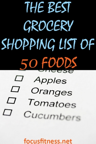 If you want to eat clean for optimal health or weight loss, this article will show you the best clean eating grocery list to use the next time you go shopping. #grocery #shopping #list #focusfitness