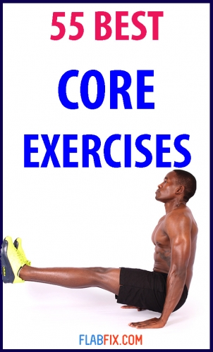 If you want to strengthen your core without going to the gym, this article will show you the best core exercises you can do at home. #best #core #exercises #flabfix