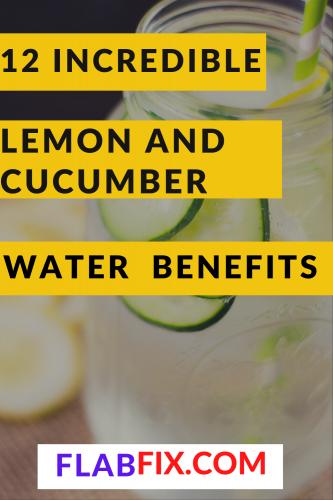 12 Incredible Lemon and Cucumber Water Benefits