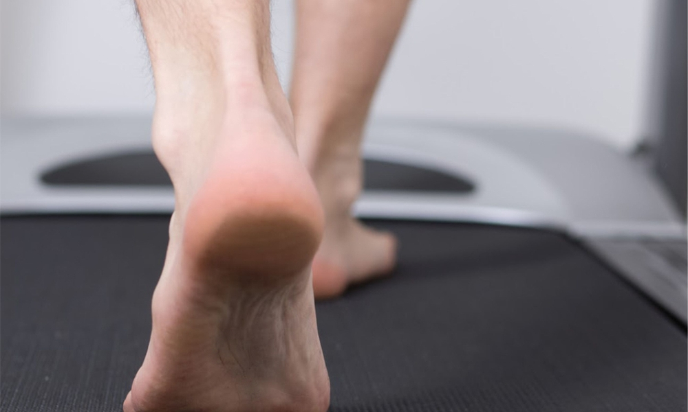 Running Barefoot on Treadmill