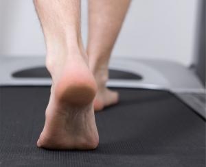 Running Barefoot on Treadmill