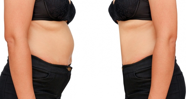 how to get rid of double belly fast