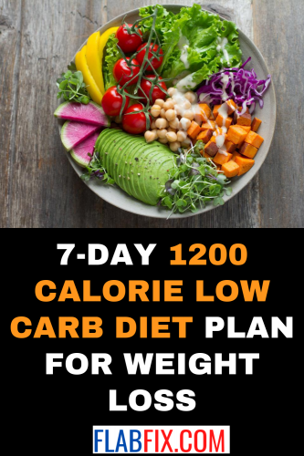 7-Day 1200 Calorie Low Carb Diet Plan for Weight Loss